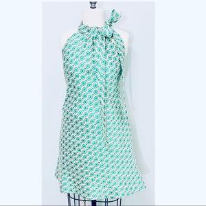 Tish Cox Courtney Green Geo Dress Small NWT